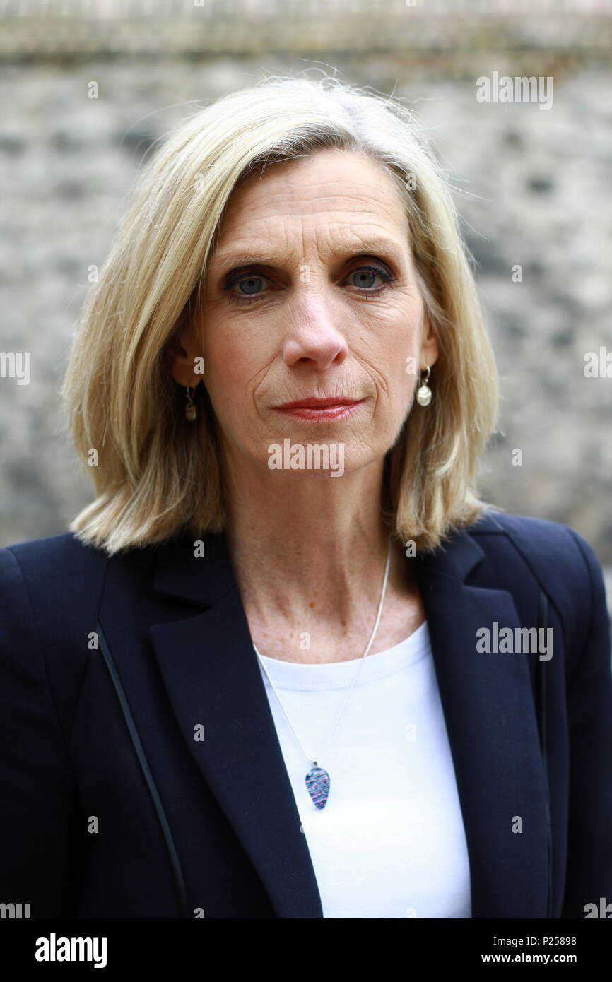 Carole Walker freelance Journalist and News television presenter pictured in Westminster London on 13th June 2018. - Stock Image