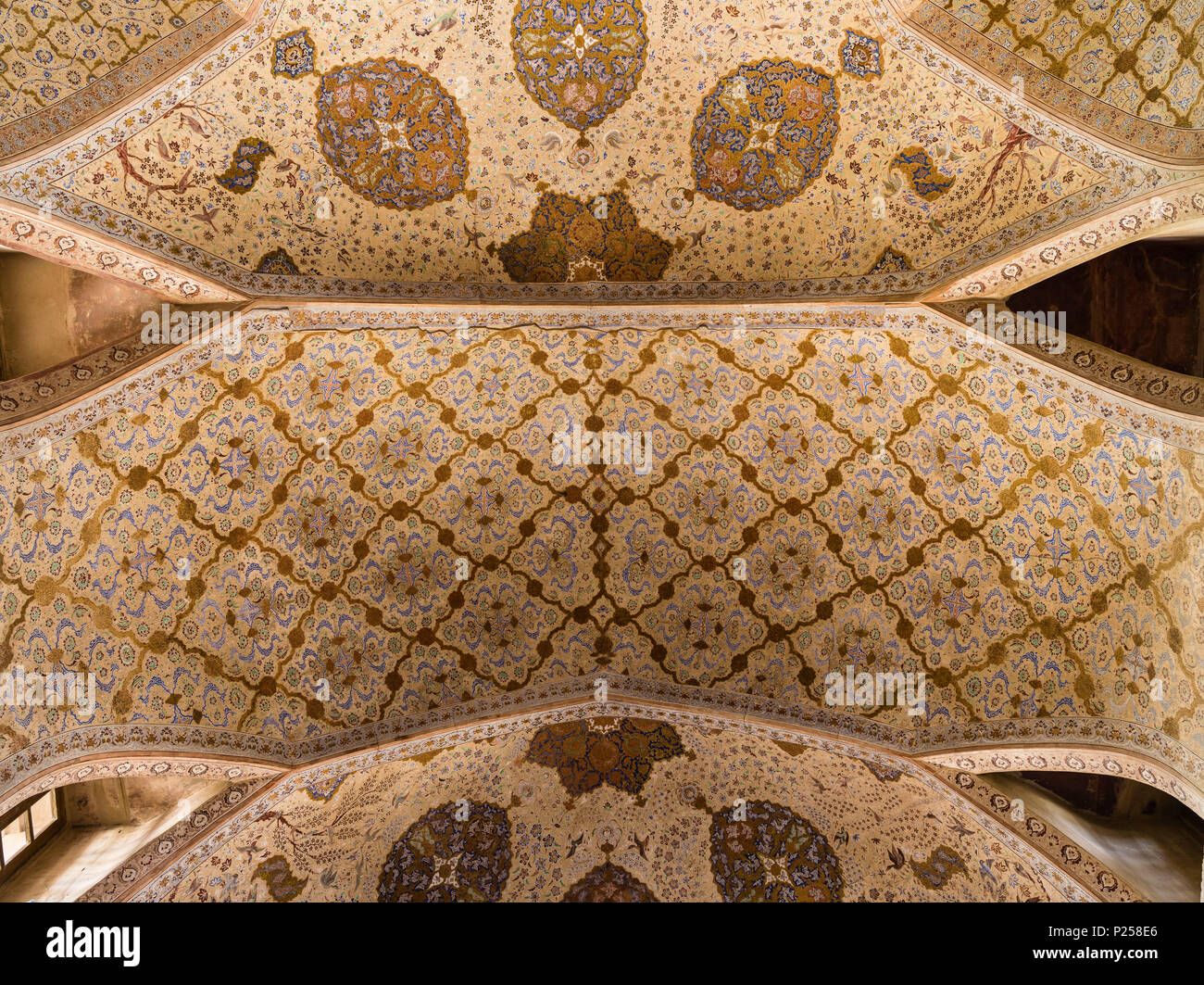 Ceiling ornament in Ali Qapu Palace in Isfahan Stock Photo
