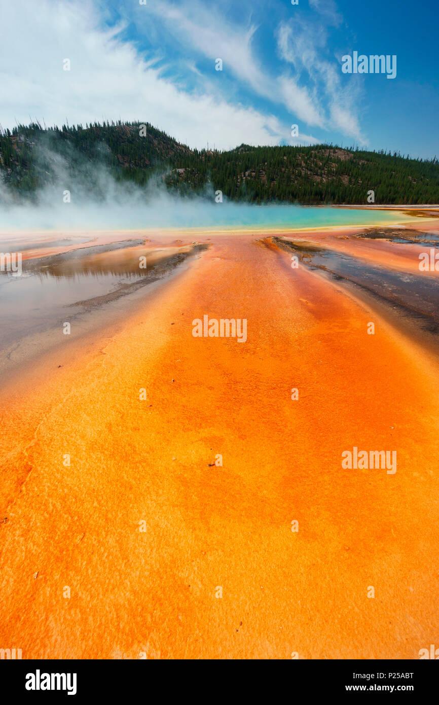 Grand Prismatic Spring, Yellowstone National Park, Wyoming, Usa - Stock Image