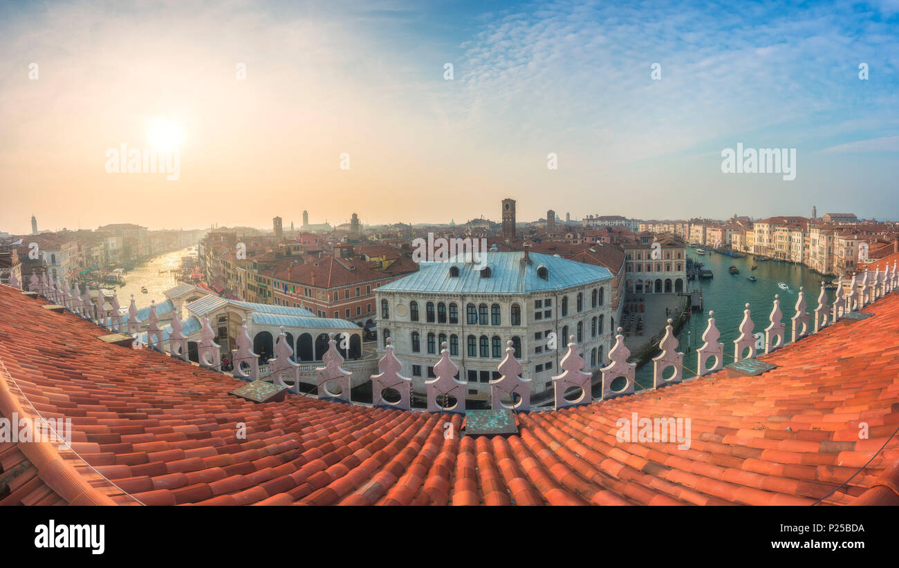 The View On Canal Grande From Panoramic Terrace Of Fondaco