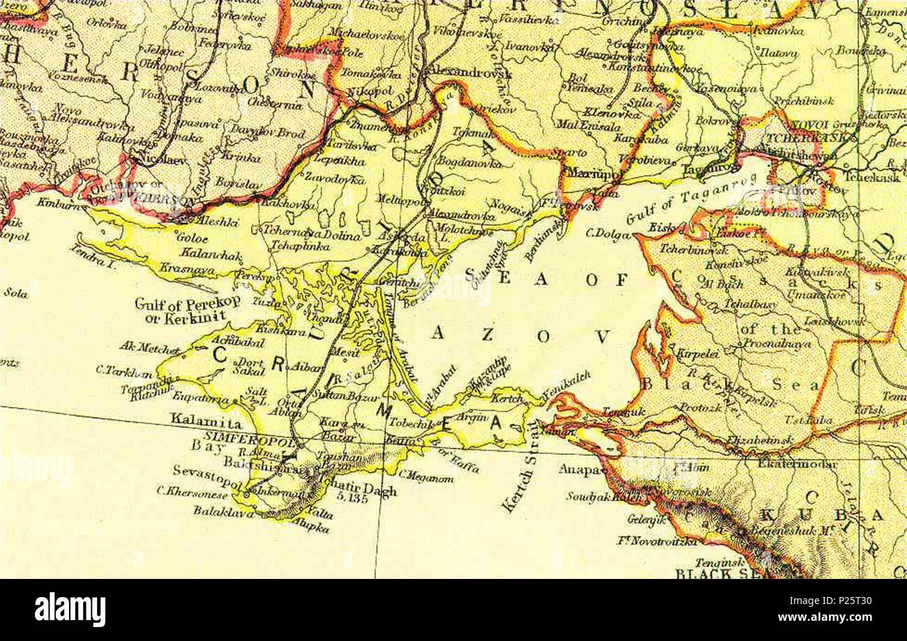 English: Map of Crimea, Ukraine from The Comprehensive Atlas