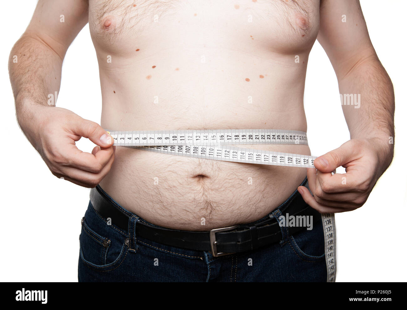 Man With Abdominal Fat Stock Photos & Man With Abdominal Fat Stock ...
