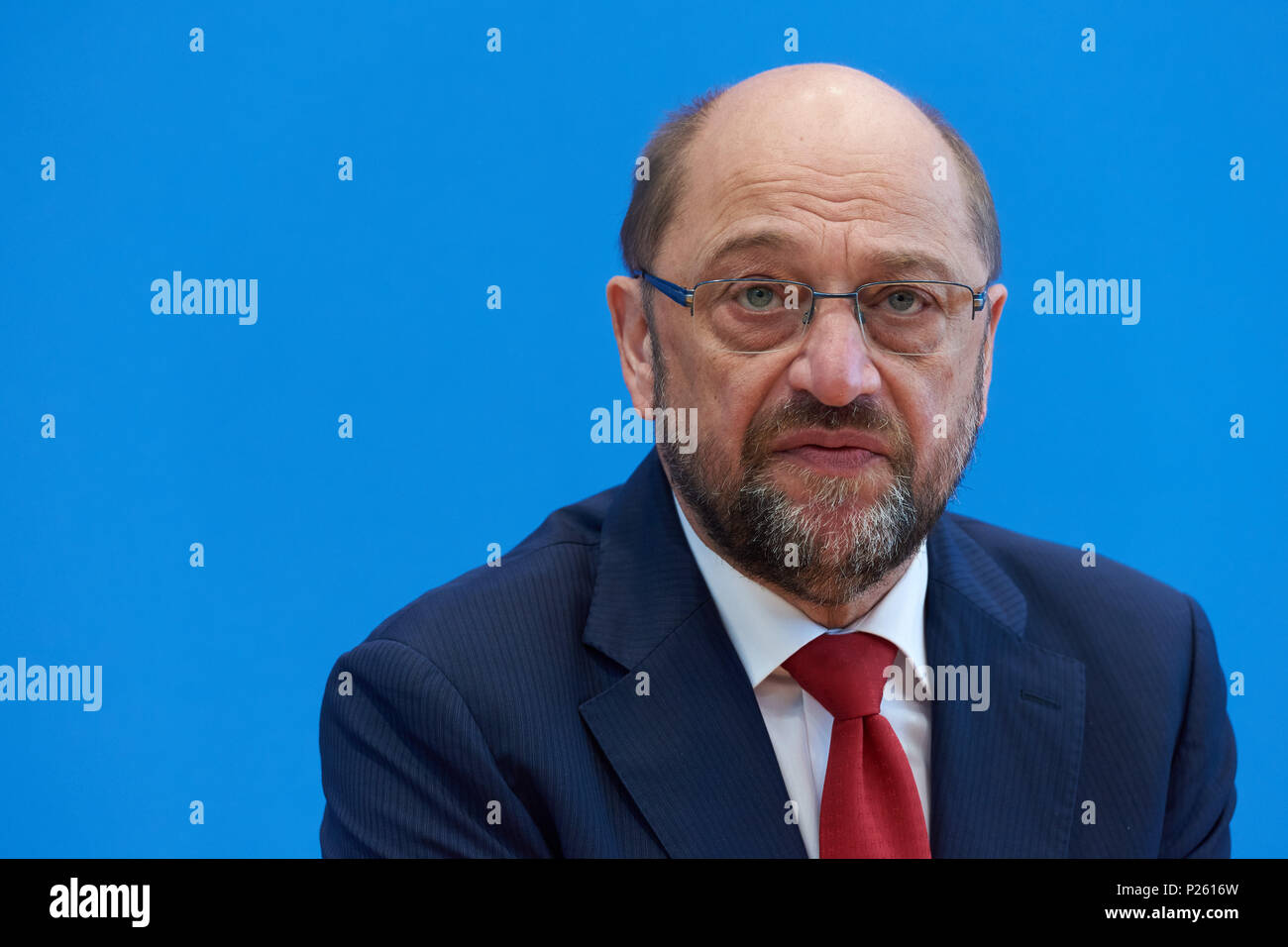 Berlin, Germany, Martin Schulz, SPD, President of the European Parliament - Stock Image