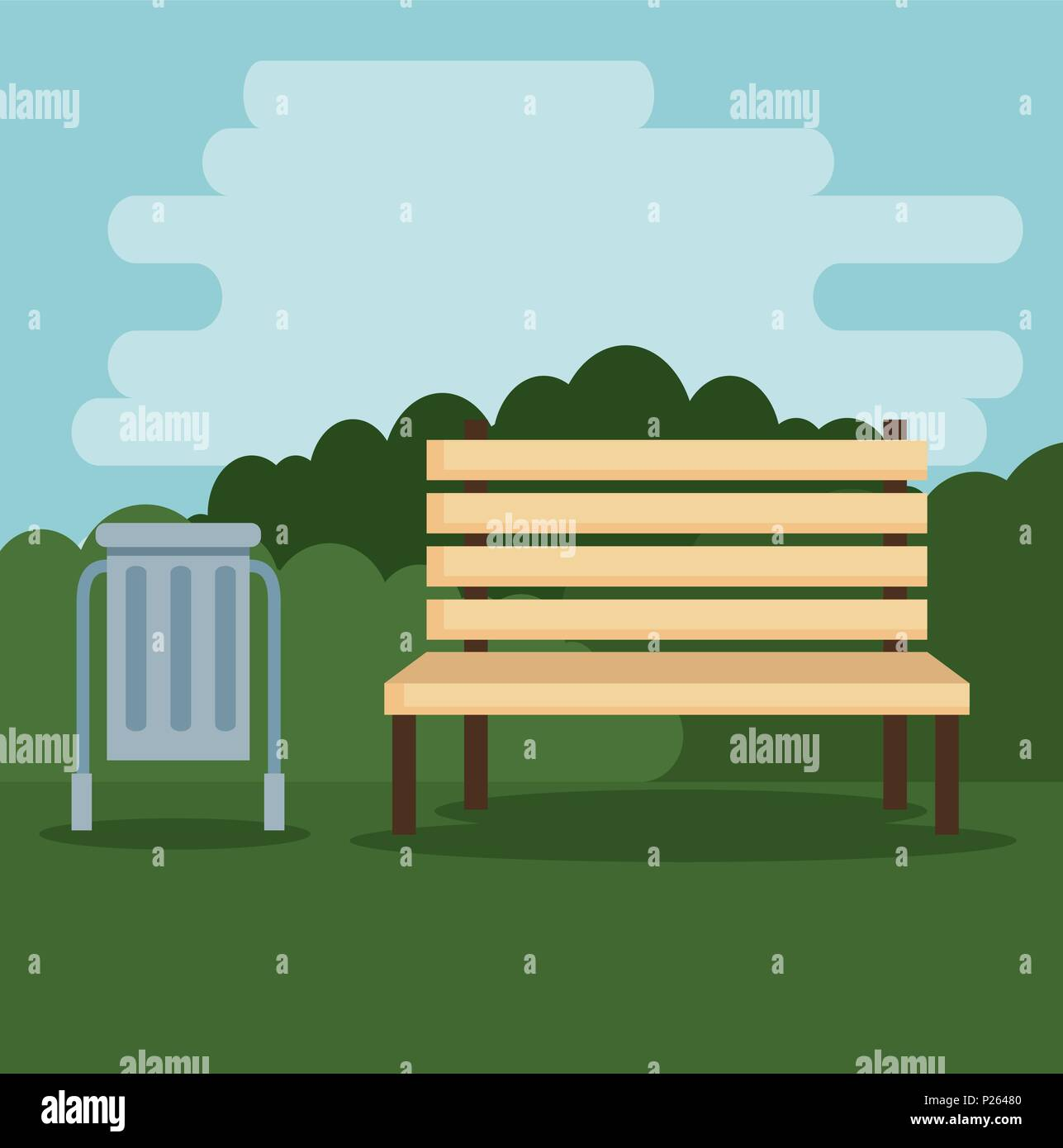 park scene outdoor icons - Stock Vector