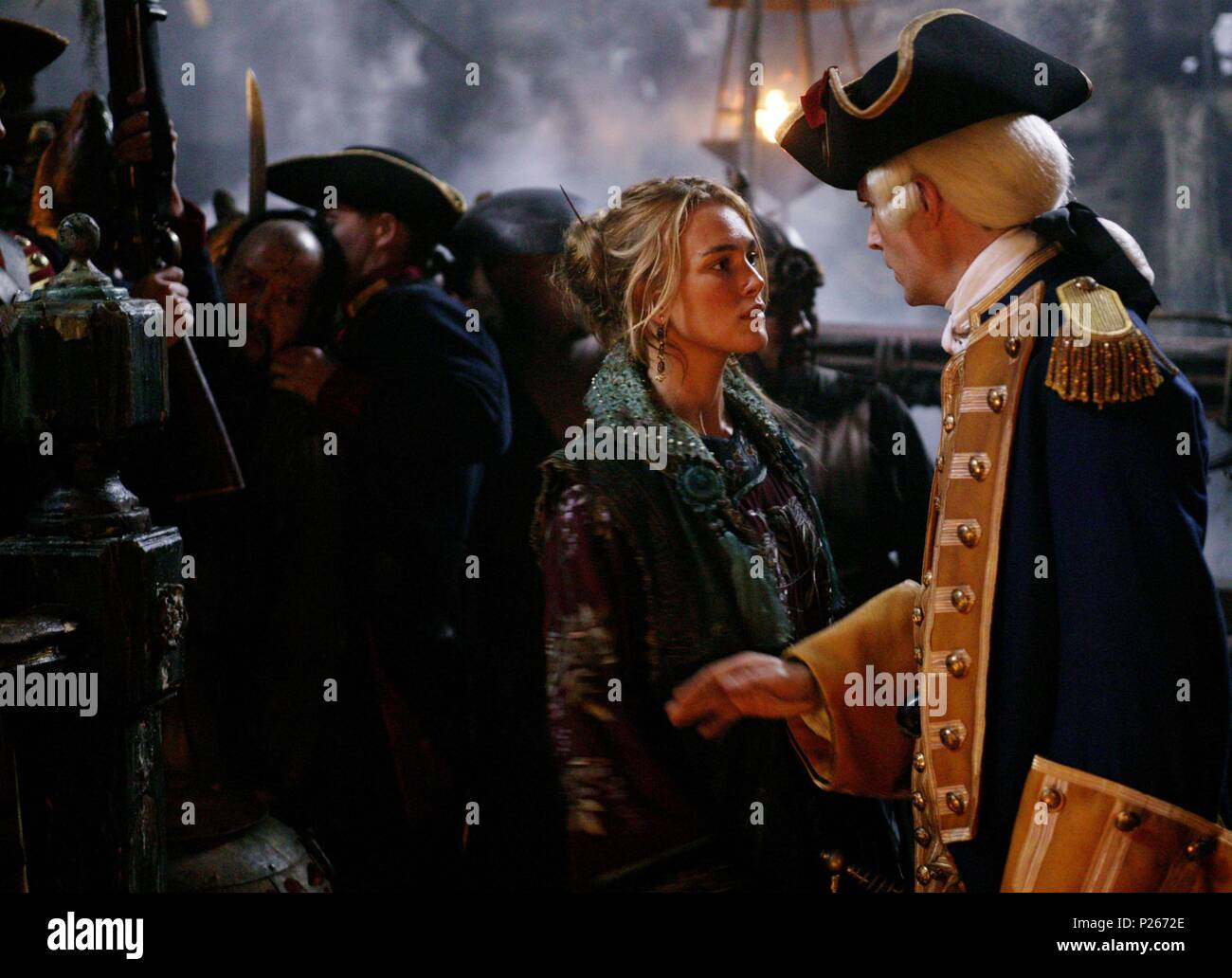 Original Film Title: PIRATES OF THE CARIBBEAN: AT WORLDS END.  English Title: PIRATES OF THE CARIBBEAN: AT WORLDS END.  Film Director: GORE VERBINSKI.  Year: 2007.  Stars: JACK DAVENPORT; KEIRA KNIGHTLEY. Credit: WALT DISNEY PICTURES / MOUNTAIN, PETER / Album - Stock Image