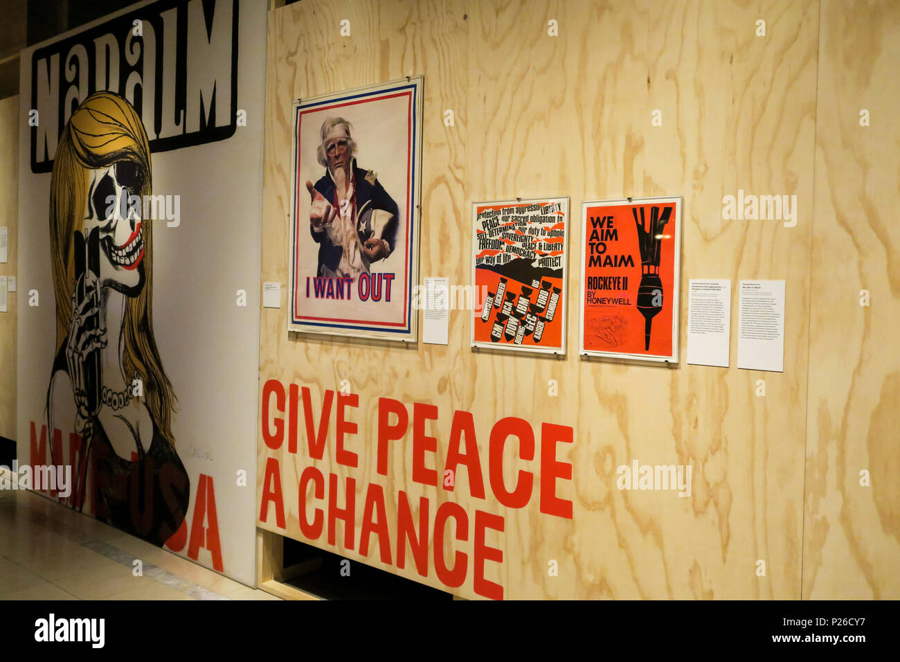 'Revolution: Remembering the 60s' Exhibit at the Main New York Public Library, NYC, USA - Stock Image