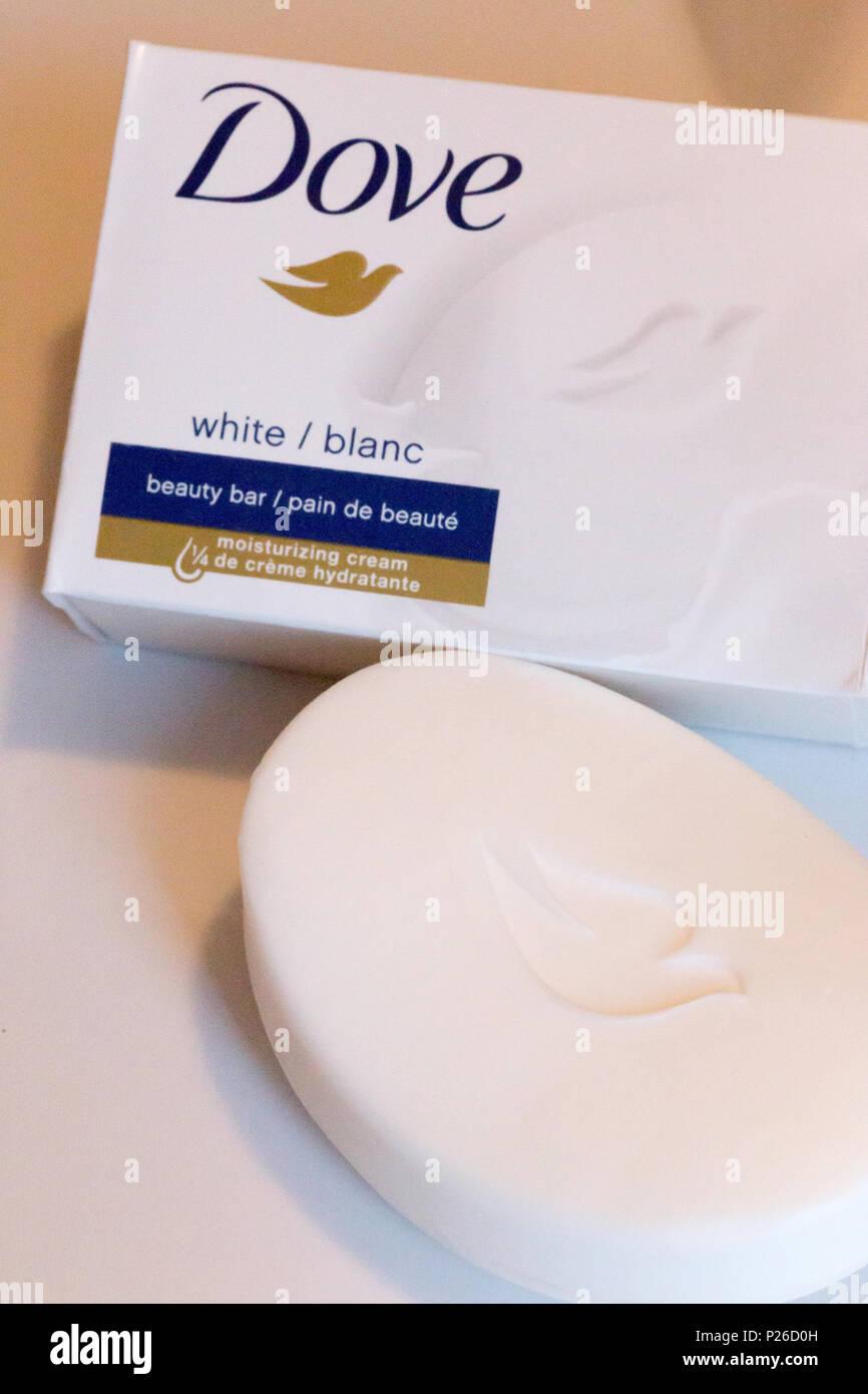 Still Life of Dove Soap, USA - Stock Image