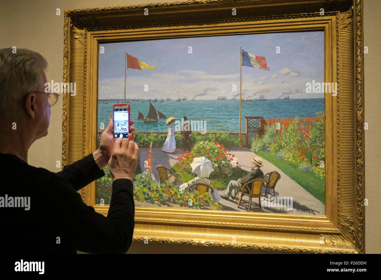 'Public Parks, Private Gardens: Paris to Provence' Exhibit at the Metropolitan Museum of Art, NYC, USA - Stock Image