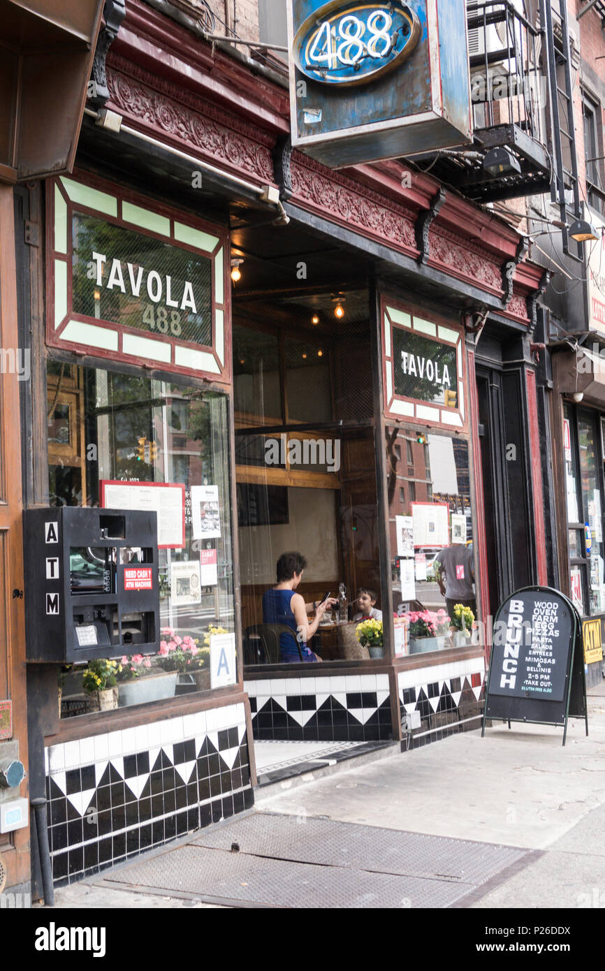 Tavola Trattoria Is In Hell S Kitchen Nyc Usa Stock Photo