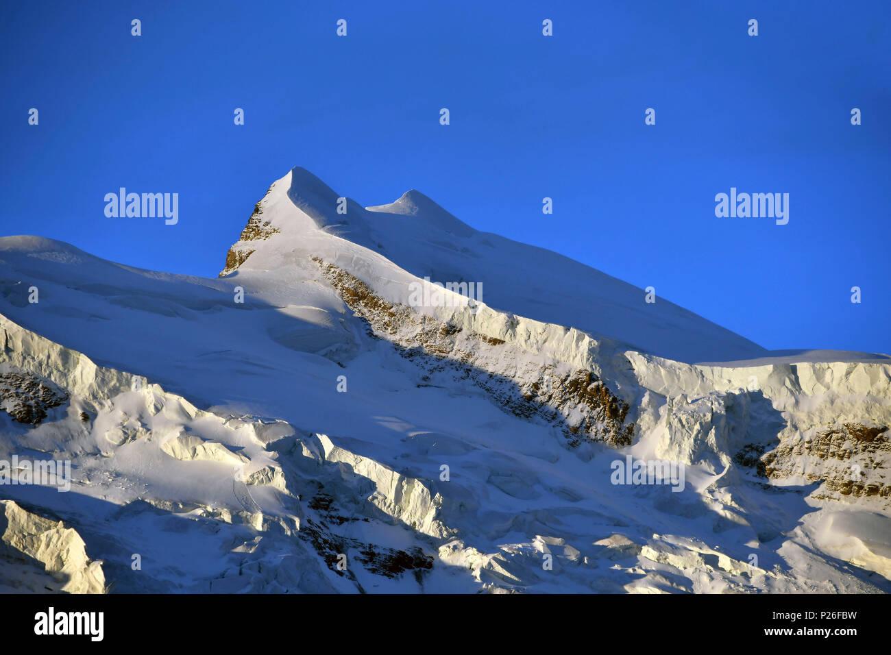 Summit of Grand Combin, (North Face), Switzerland, Swiss - Stock Image