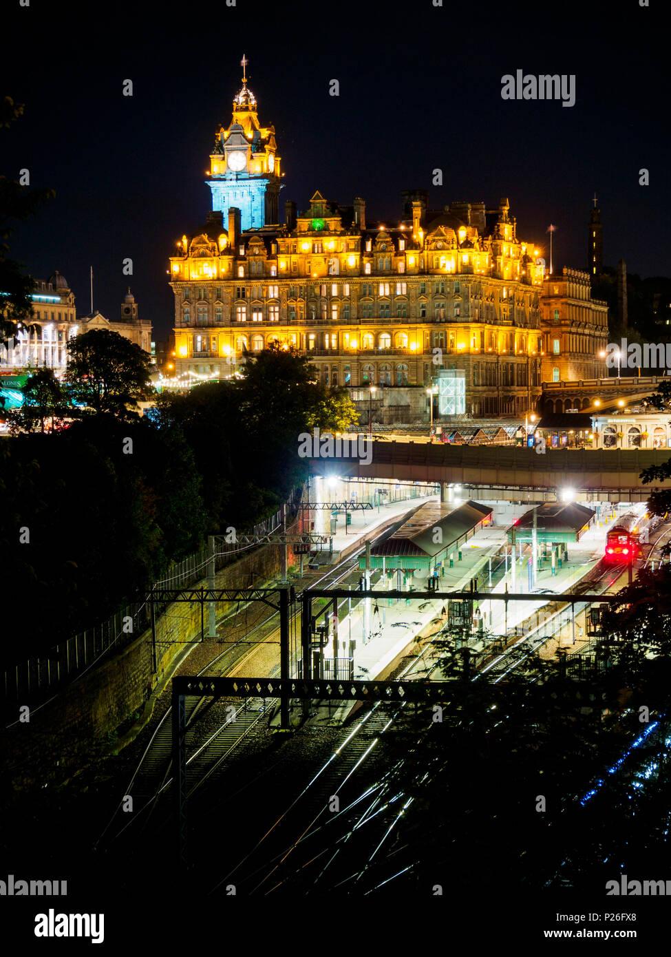 Waverley railway station, Edinburgh, Scotland, Great Britain, Europe Stock Photo