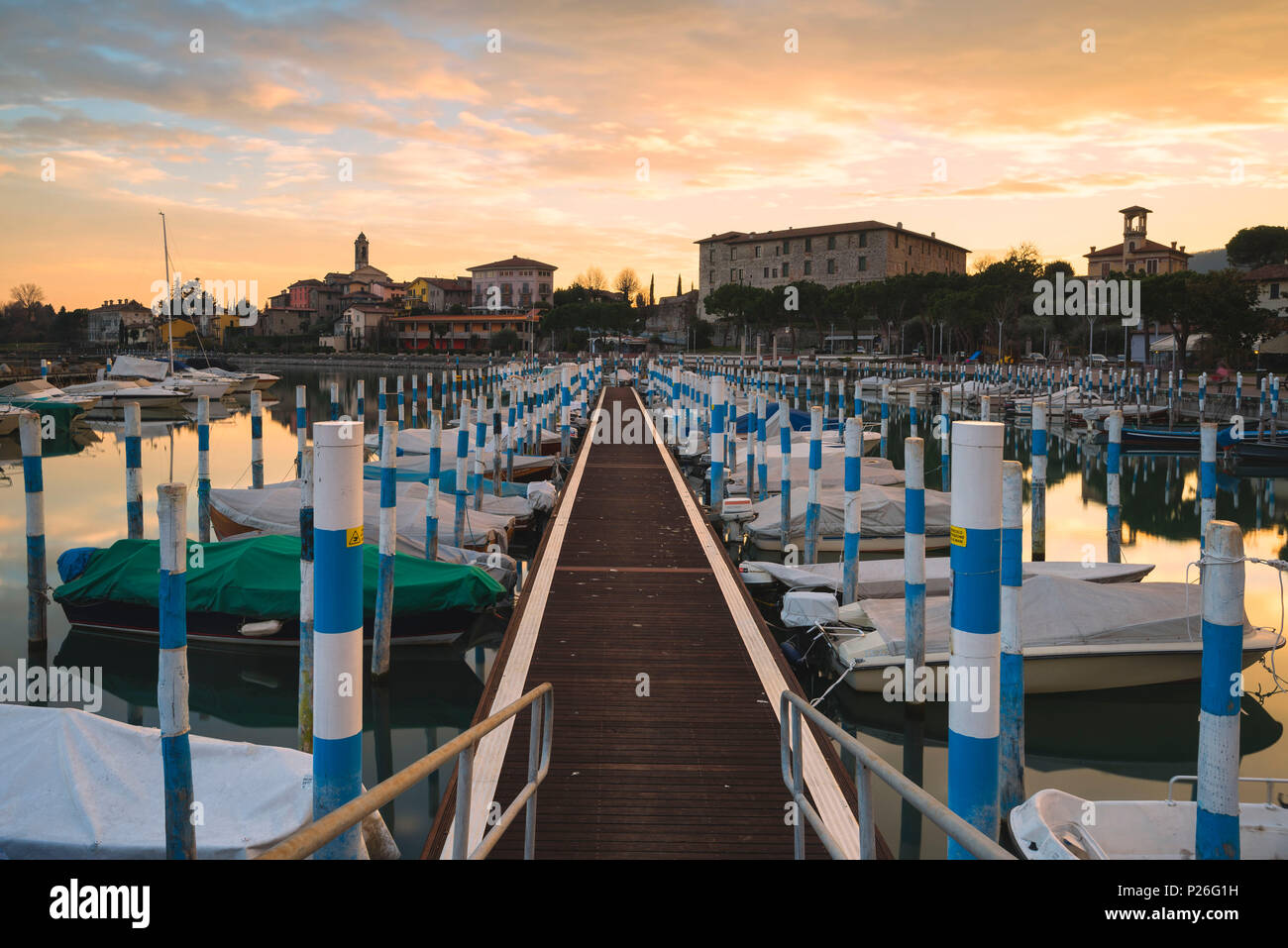Clusane d'Iseo, Iseo lake, Brescia province, Lombardy, Italy, Europe. - Stock Image