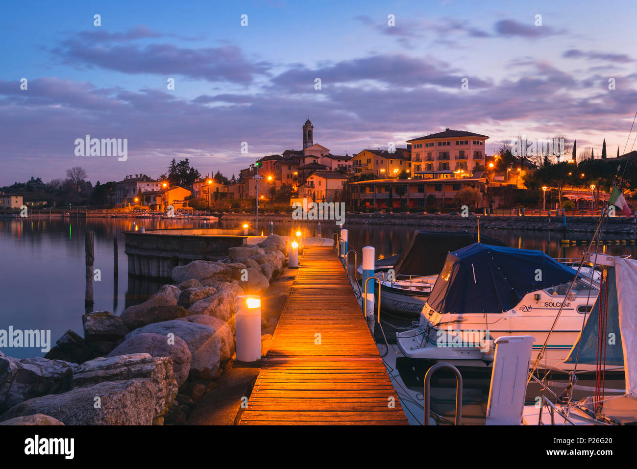 Clusane d'Iseo, Iseo lake, Brescia province, Lombardy district, Italy, Europe. - Stock Image