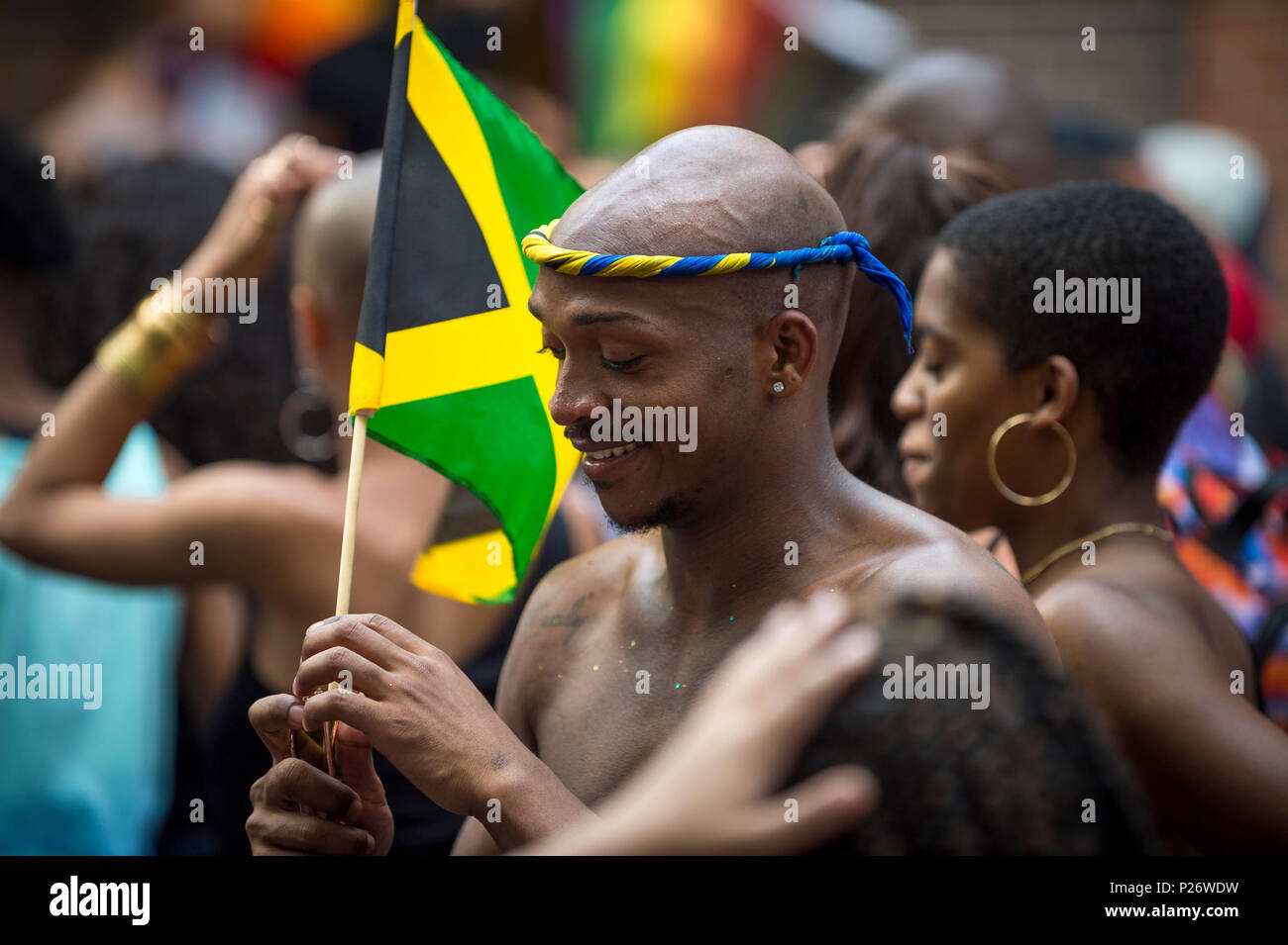 man at nyc pride stock photos man at nyc pride stock images alamy. Black Bedroom Furniture Sets. Home Design Ideas
