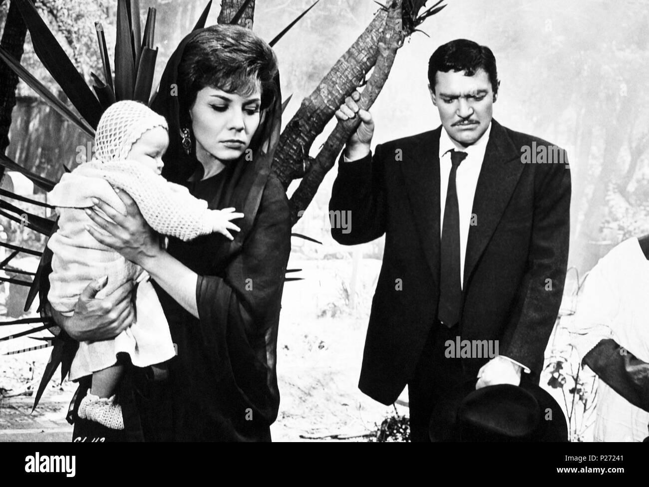 Original Film Title: LOS CUERVOS ESTAN DE LUTO.  English Title: LOS CUERVOS ESTAN DE LUTO.  Film Director: FRANCISCO DEL VILLAR.  Year: 1965. Stock Photo