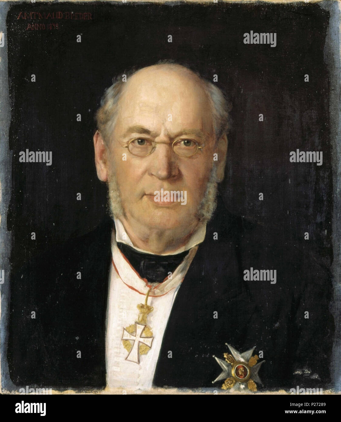 . Norwegian: Paul Peter Vilhelm Breder (født 1816 i Halden, død 1890) er en tidligere norsk embedsmann, jurist og politiker. Dannebrogsordenen om halsen og St. Olavsordenens ridderkors på brystet. English: Portrait of Paul Peter Vilhelm Breder (1816-1890), Norwegian civil servant and member of Stortinget with the Order of St. Olav and the Order of the Dannebrog. . 1879.    Asta Nørregaard  (1853–1933)     Alternative names Asta Elise Jacobine Nørregaard  Description Norwegian painter  Date of birth/death 13 August 1853 23 March 1933  Location of birth/death Christiania (Oslo) Oslo  Work locati - Stock Image