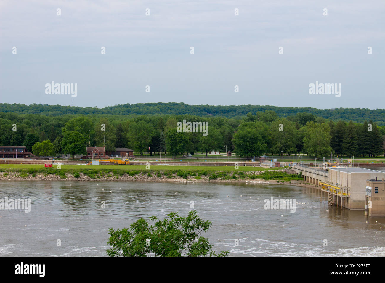 illinois river at starved rock natural park, united states of america - Stock Image
