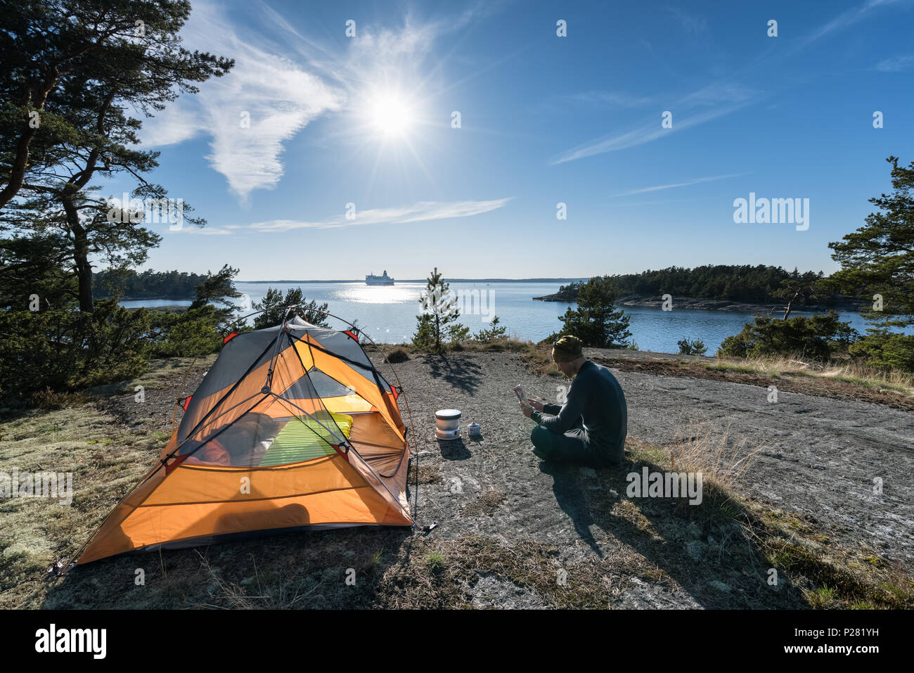 At Bylandet island, Kirkkonummi, Finland, Europe, EU - Stock Image