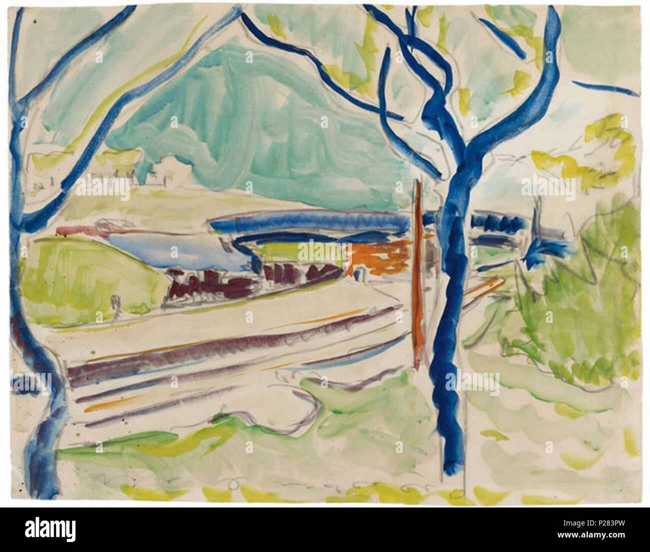 Ernst Ludwig Kirchner Poster Glasbild Landschaft Sertigtal Leinwandbild