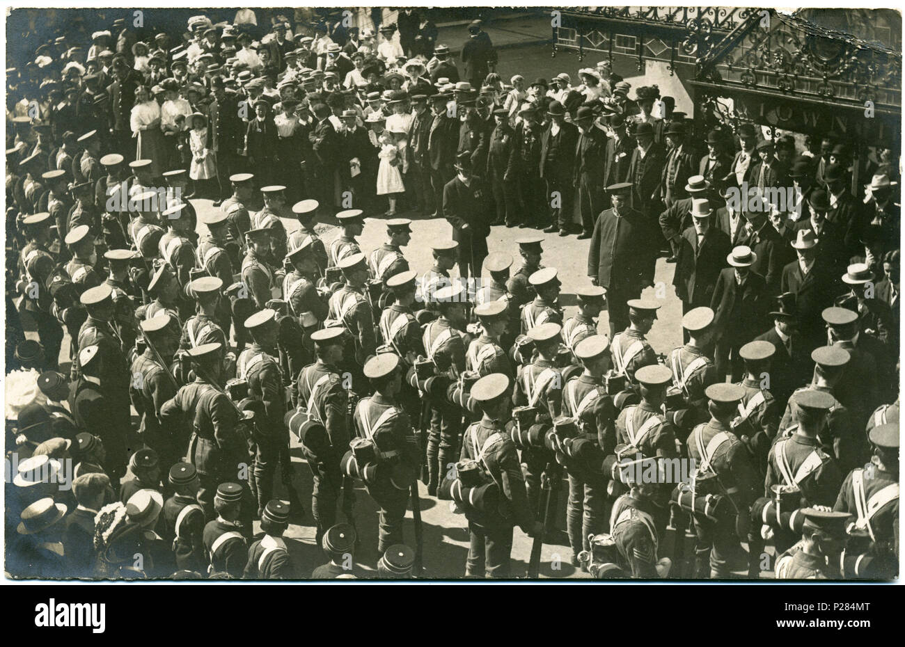 postcard photo possibly of king s hall herne bay kent england