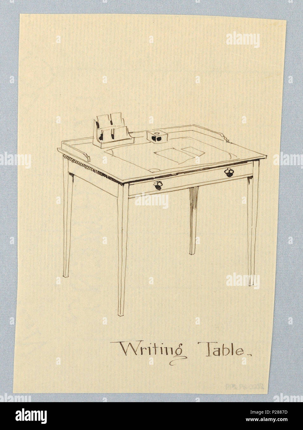 103 Drawing, Design for Simple Rectangular Writing Table