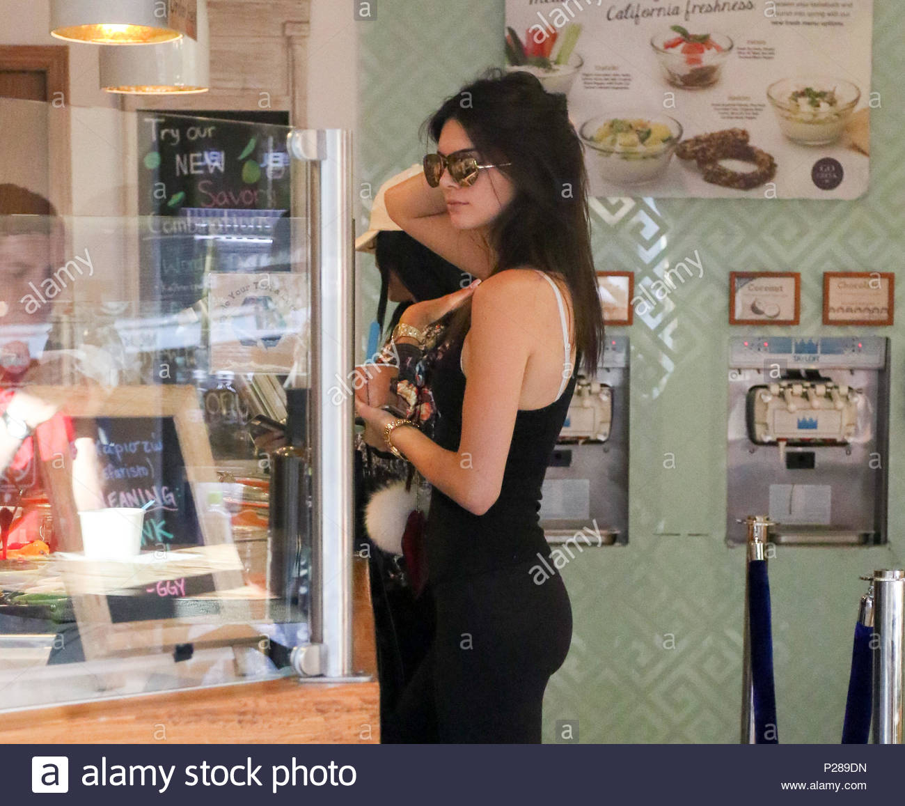 Kendall jenner kylie jenner kendall and kylie jenner meet up for kendall jenner kylie jenner kendall and kylie jenner meet up for dessert at go greek yogurt in beverly hills kylie was also seen shopping at agent m4hsunfo
