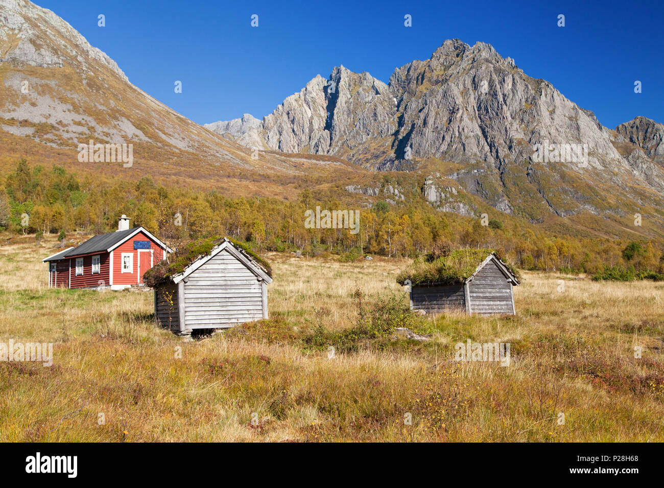 Standaldalen Valley in the Sunnmore Alps, More og Romsdal, Norway. - Stock Image
