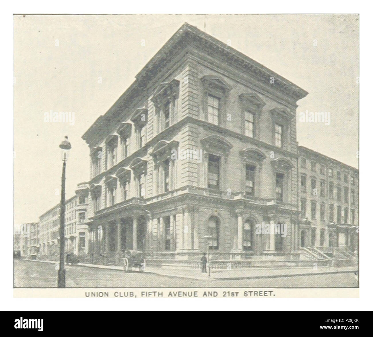 (King1893NYC) pg550 UNION CLUB, FIFTH AVENUE AND 21ST STREET. - Stock Image