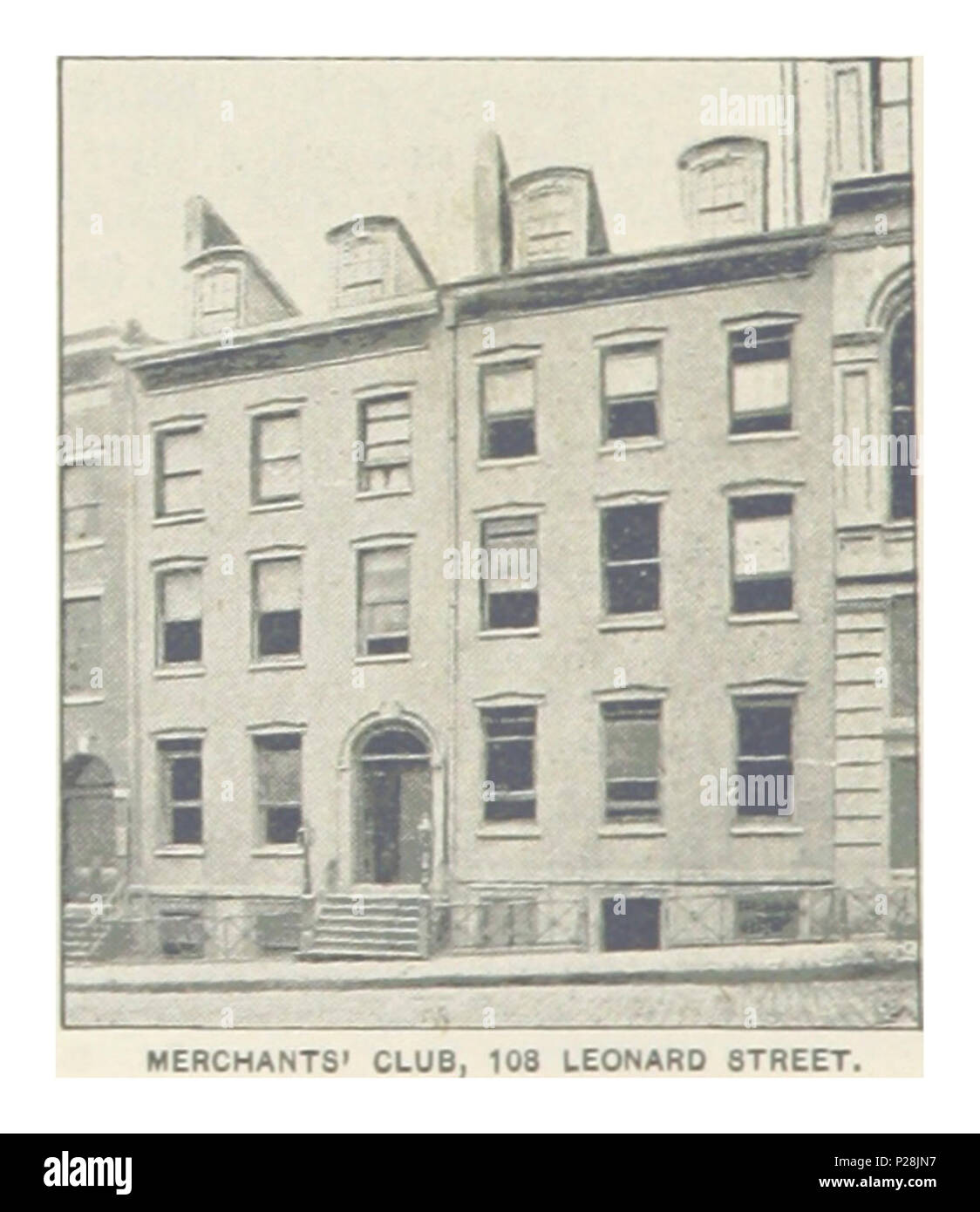 (King1893NYC) pg564 MERCHANTS' CLUB, 108 LEONARD STREET. - Stock Image