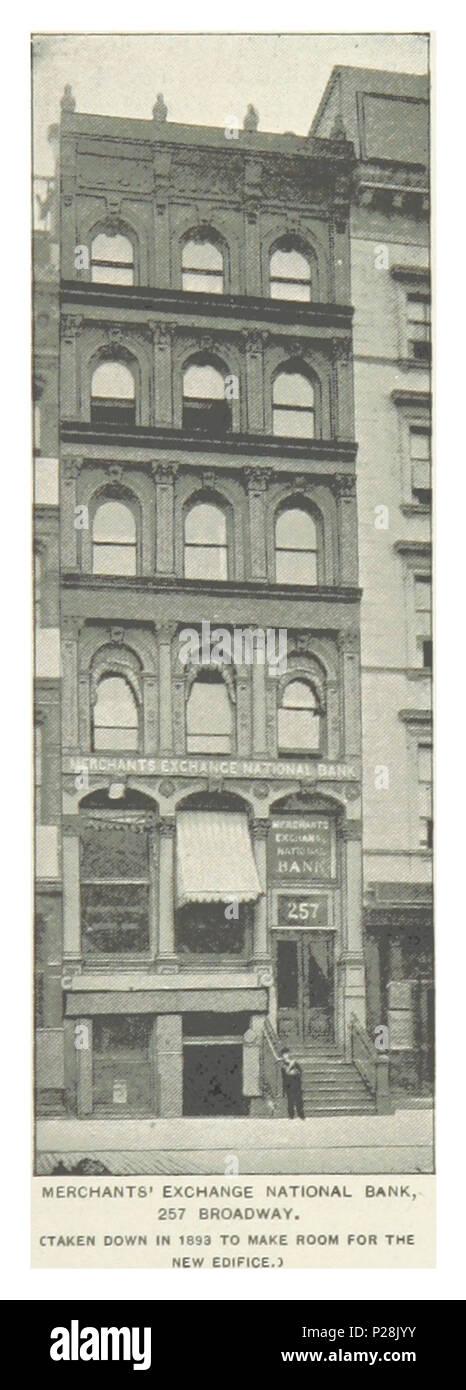 (King1893NYC) pg721 MERCHANTS' EXCHANGE NATIONAL BANK, 257 BROADWAY. - Stock Image