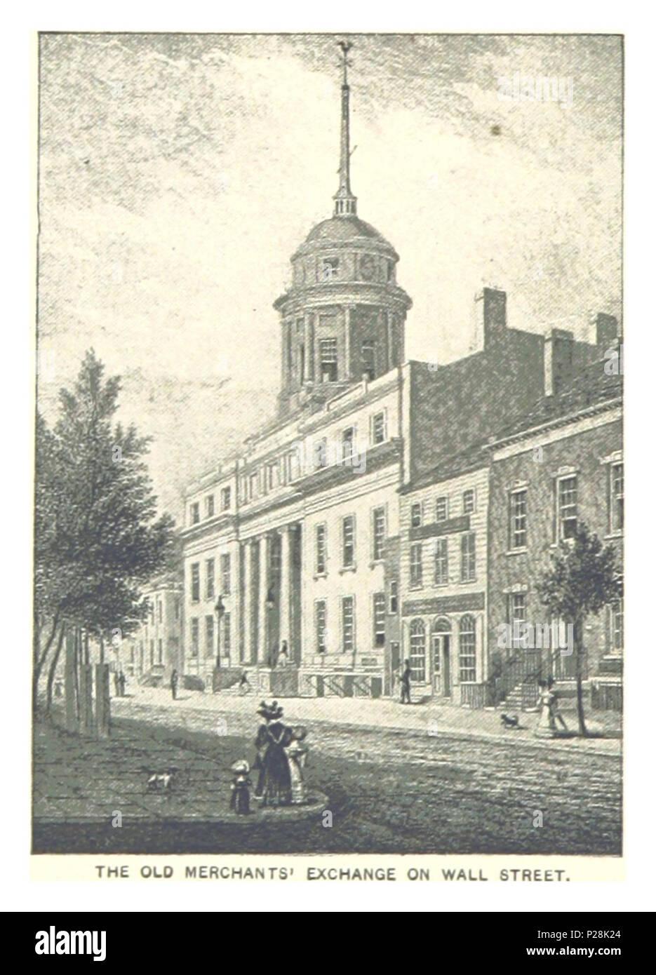 (King1893NYC) pg790 THE OLD MERCHANTS' EXCHANGE ON WALL STREET. - Stock Image