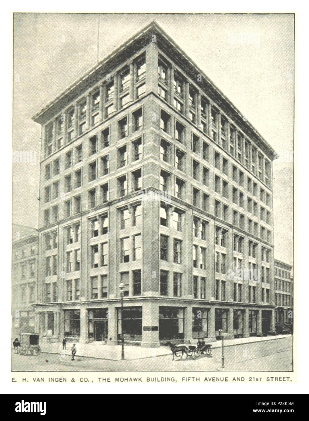 (King1893NYC) pg893 THE MOHAWK BUILDING, FIFTH AVENUE AND 21ST STREET. - Stock Image