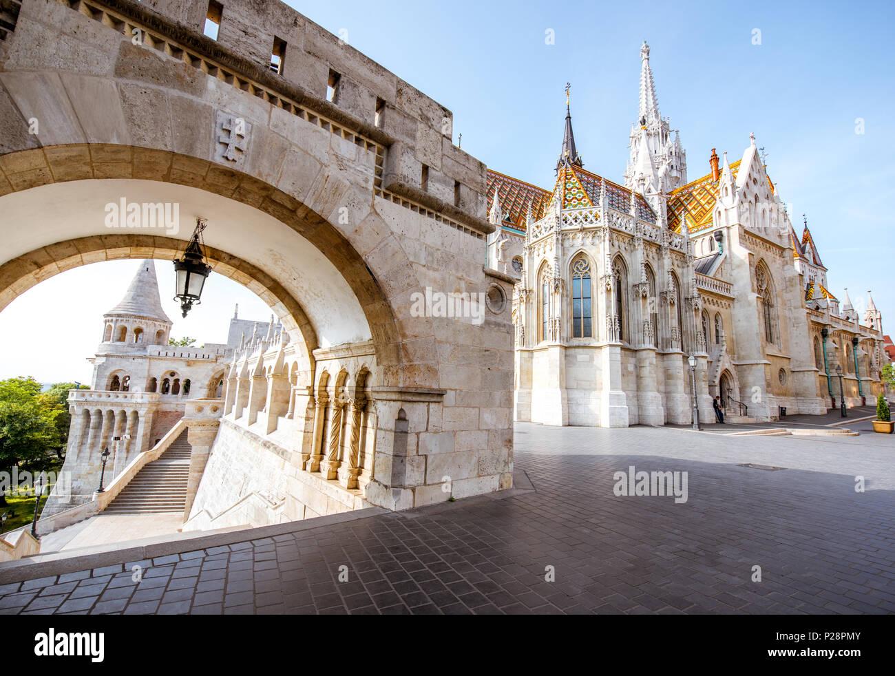 Fisherman's bastion in Budapest - Stock Image