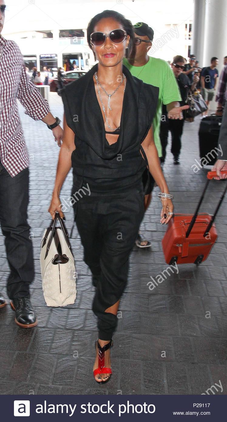 2486e0aa280 Jada Pinkett Smith. Jada Pinkett Smith seen departing on a flight at ...