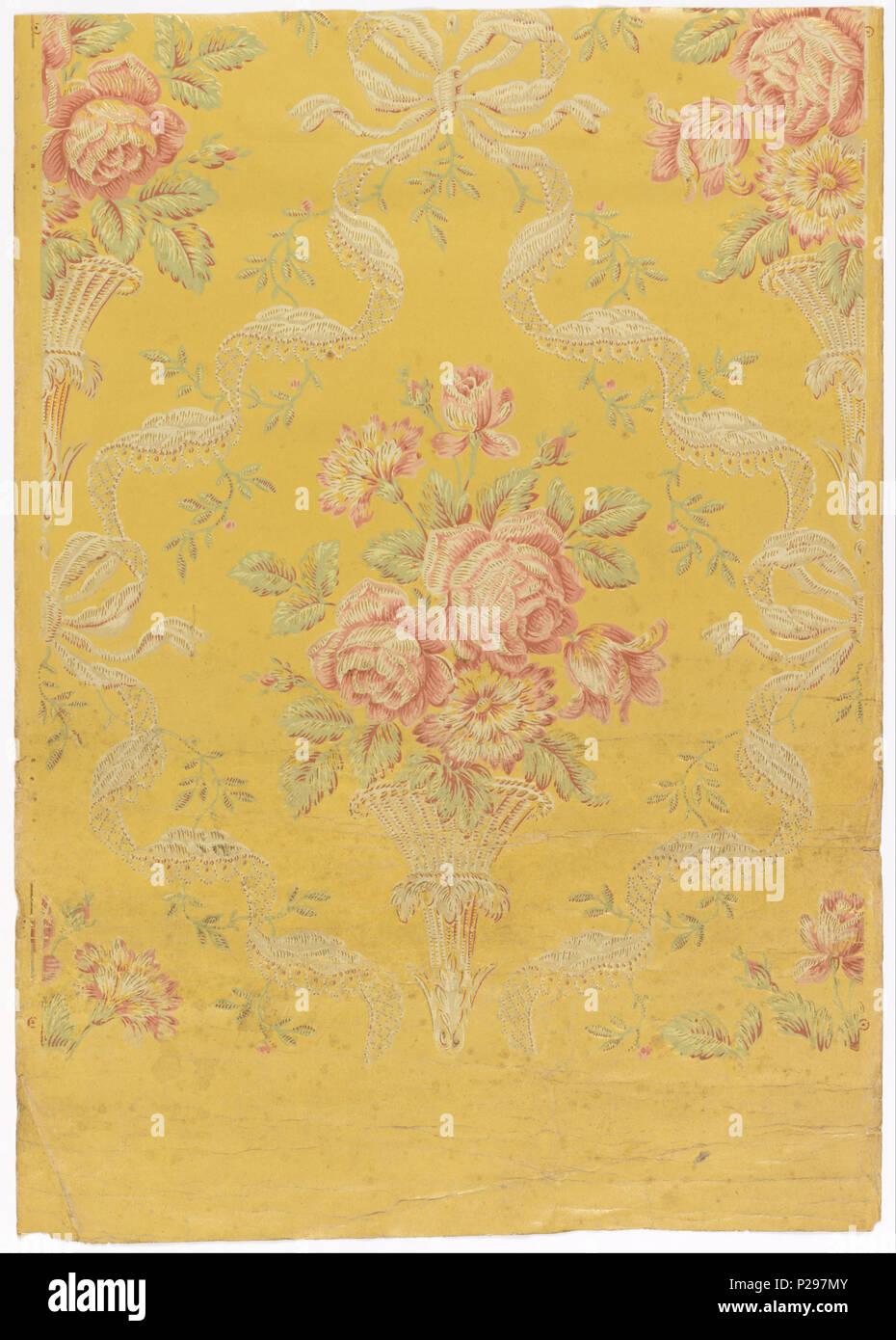 floral brocade 1875 1900 157 j zuber et cie floral brocade