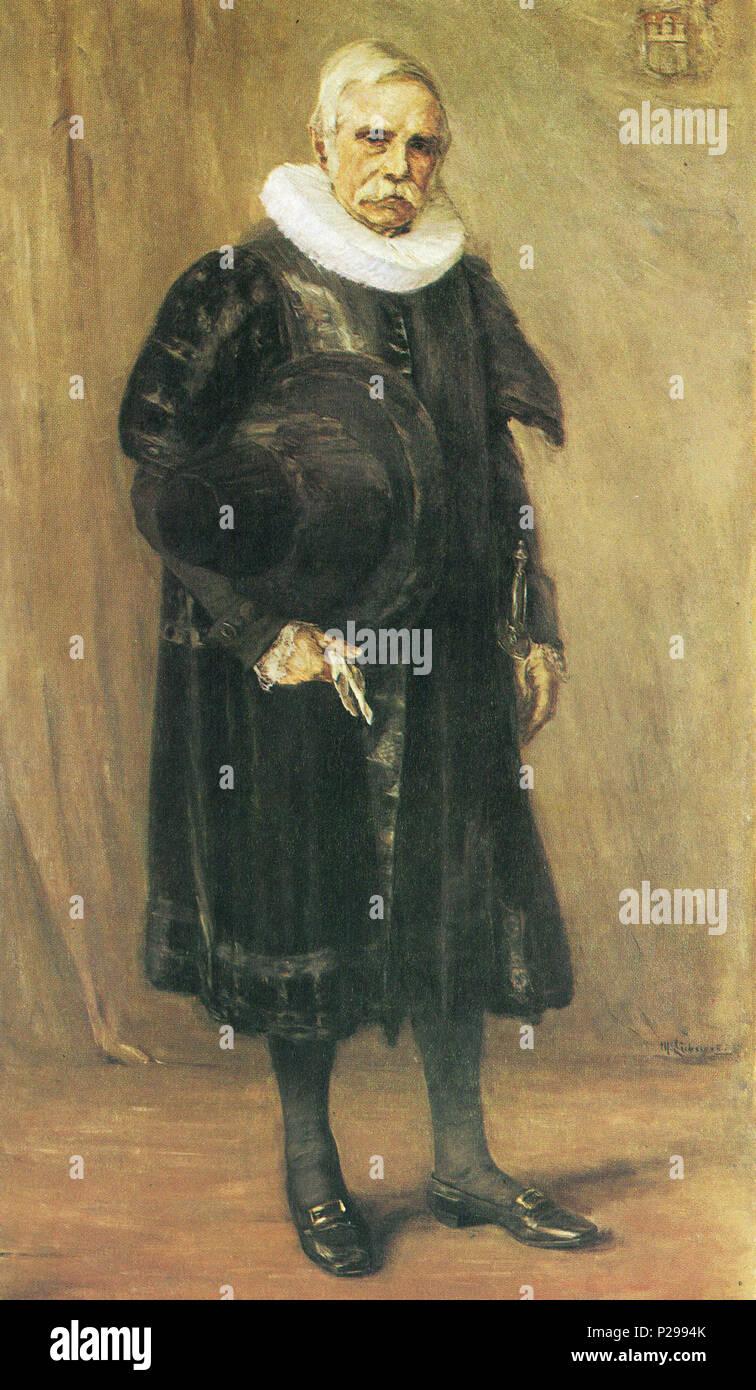 176 Liebermann, Bürgermeister Carl Friedrich Petersen (1891) - Stock Image