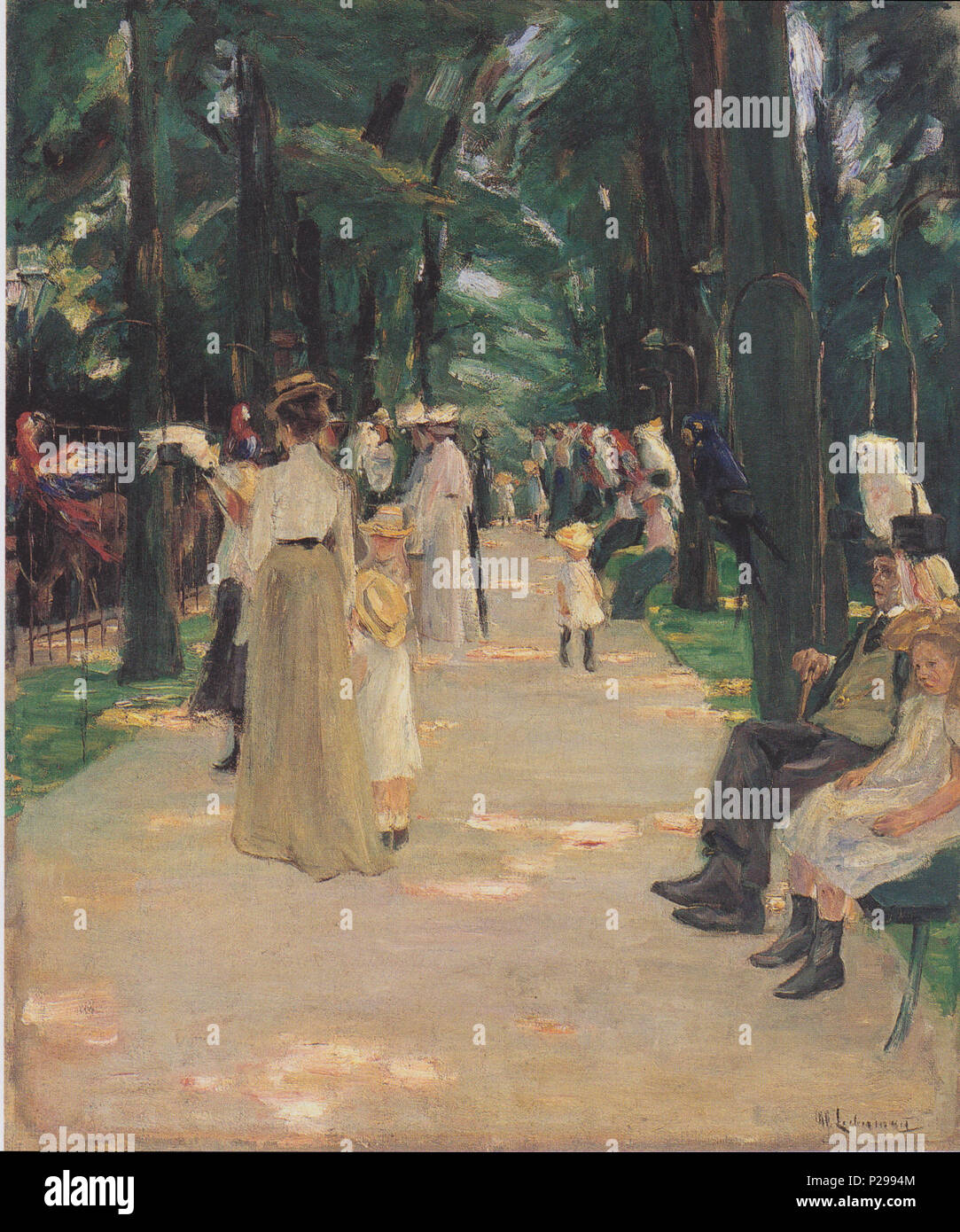 . Parrot Alley . 1902 176 Liebermann - Papageienallee - Stock Image