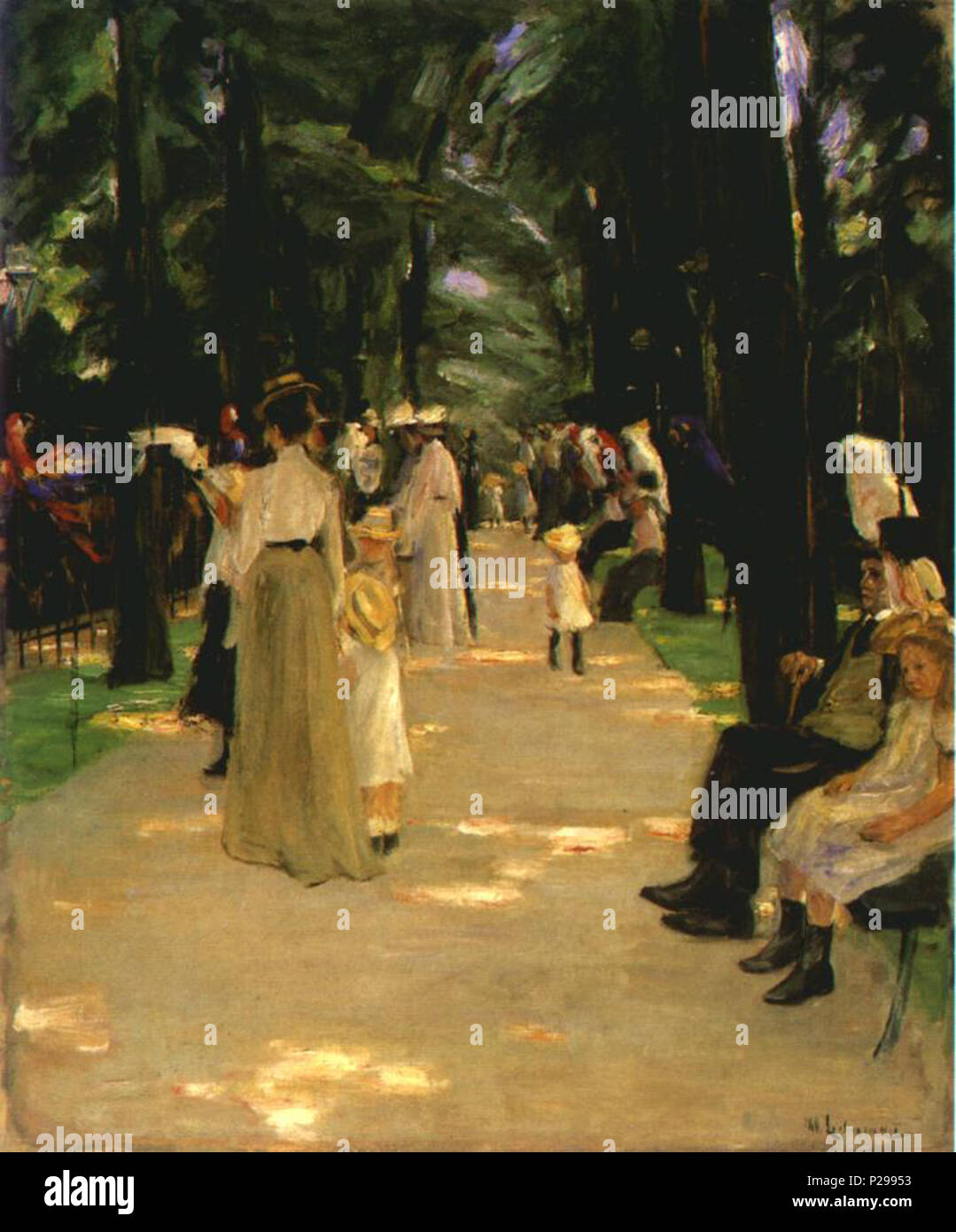. Parrot Alley . 1902 176 Liebermann Papageienallee 1902 - Stock Image