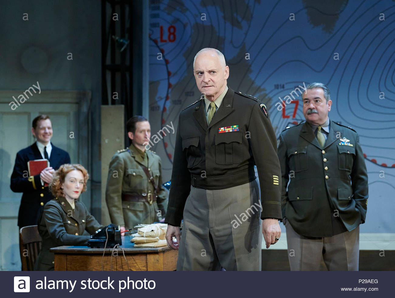 Pressure by David Haig, directed by John Dove.With Malcolm Sinclair as General Eisenhower. Opens at The Ambassadors Theatre on 14/6/18. CREDIT Geraint Lewis EDITORIAL USE ONLY - Stock Image