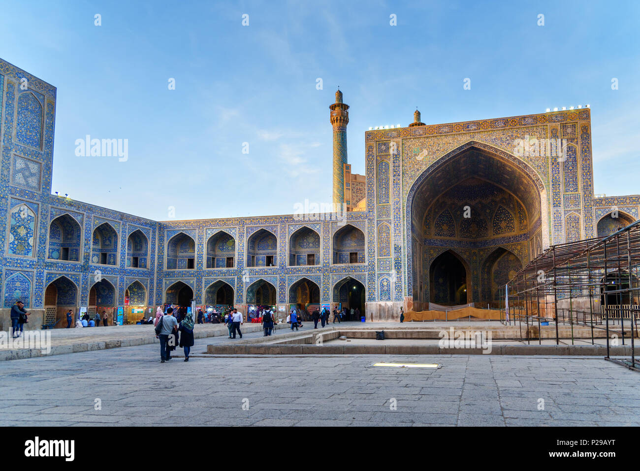 Isfahan, Iran - March 21, 2018: Yard of Shah Mosque or Imam Mosque - Stock Image