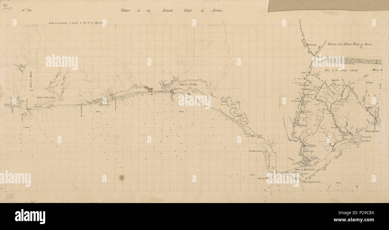 Map of Spanish East and West Florida from Mobile Bay to ...