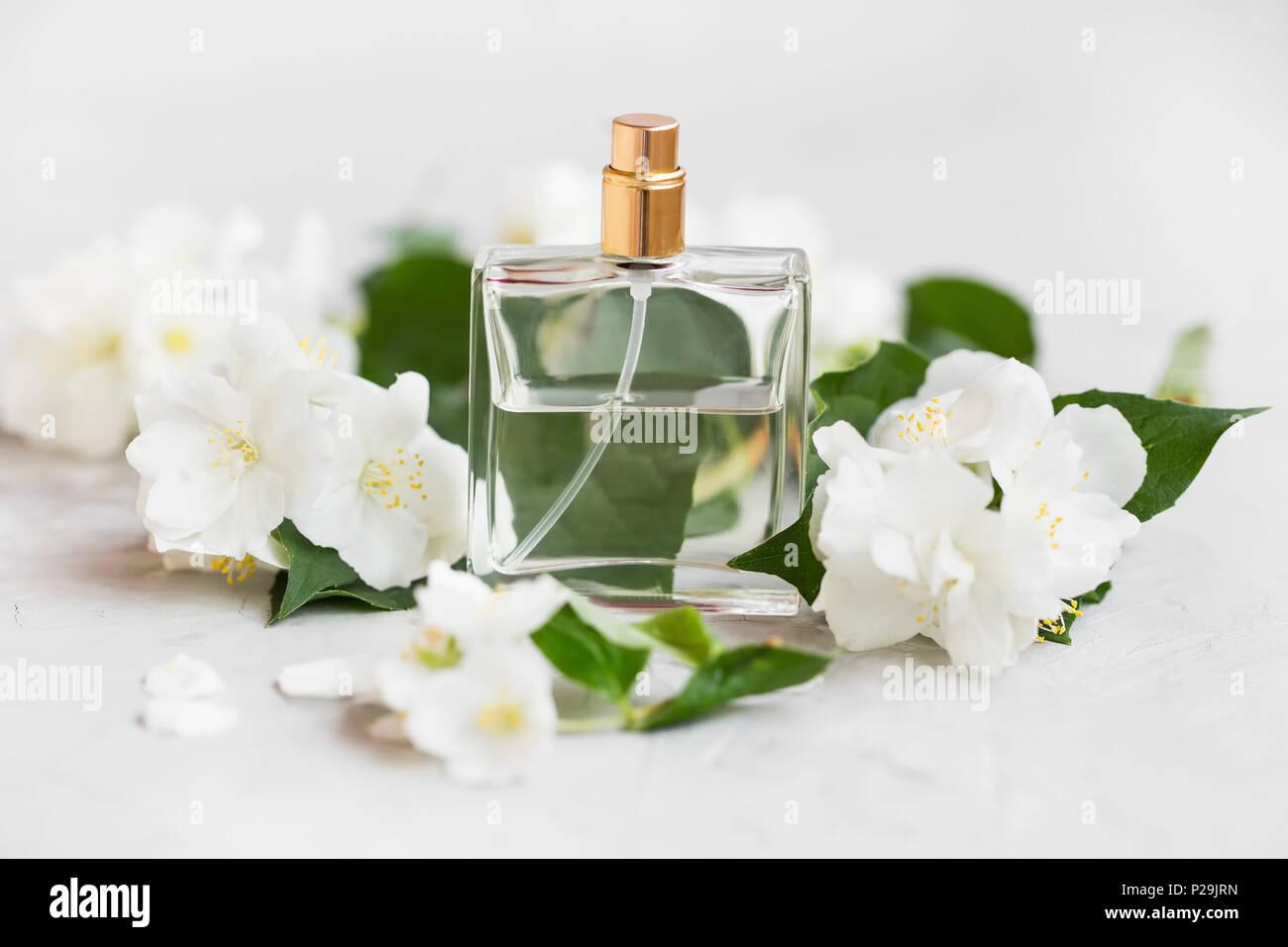 Floral jasmine perfume in transparent bottle with jasmine flowers floral jasmine perfume in transparent bottle with jasmine flowers izmirmasajfo