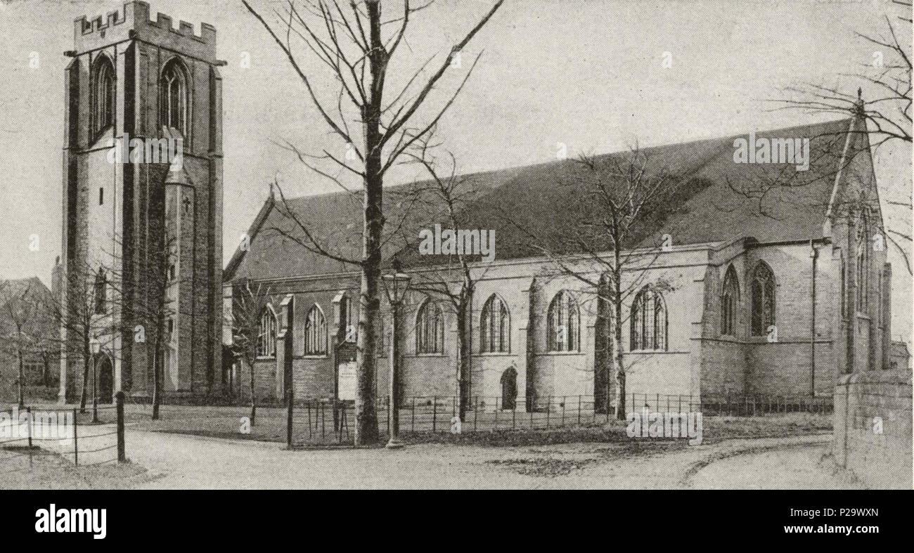 . St Matthew's Church, Chapel Allerton, Leeds, West Yorkshire, England. between 1900 and 1904. Unknown 296 St Matthew Chapel Allerton in 1900-04 (3) - Stock Image