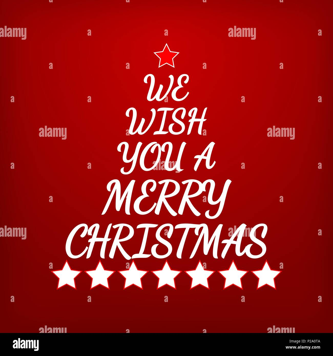 We Wish You A Merry Christmas Letters And Stars Forming Christmas
