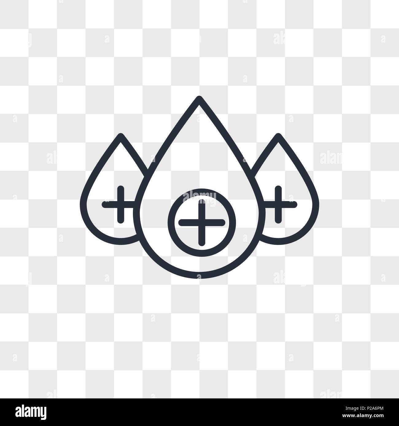 positive charges vector icon isolated on transparent background, positive charges logo concept - Stock Vector