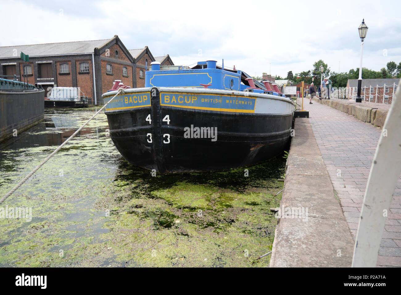 Bacup Barge at the British Waterways Museum. - Stock Image