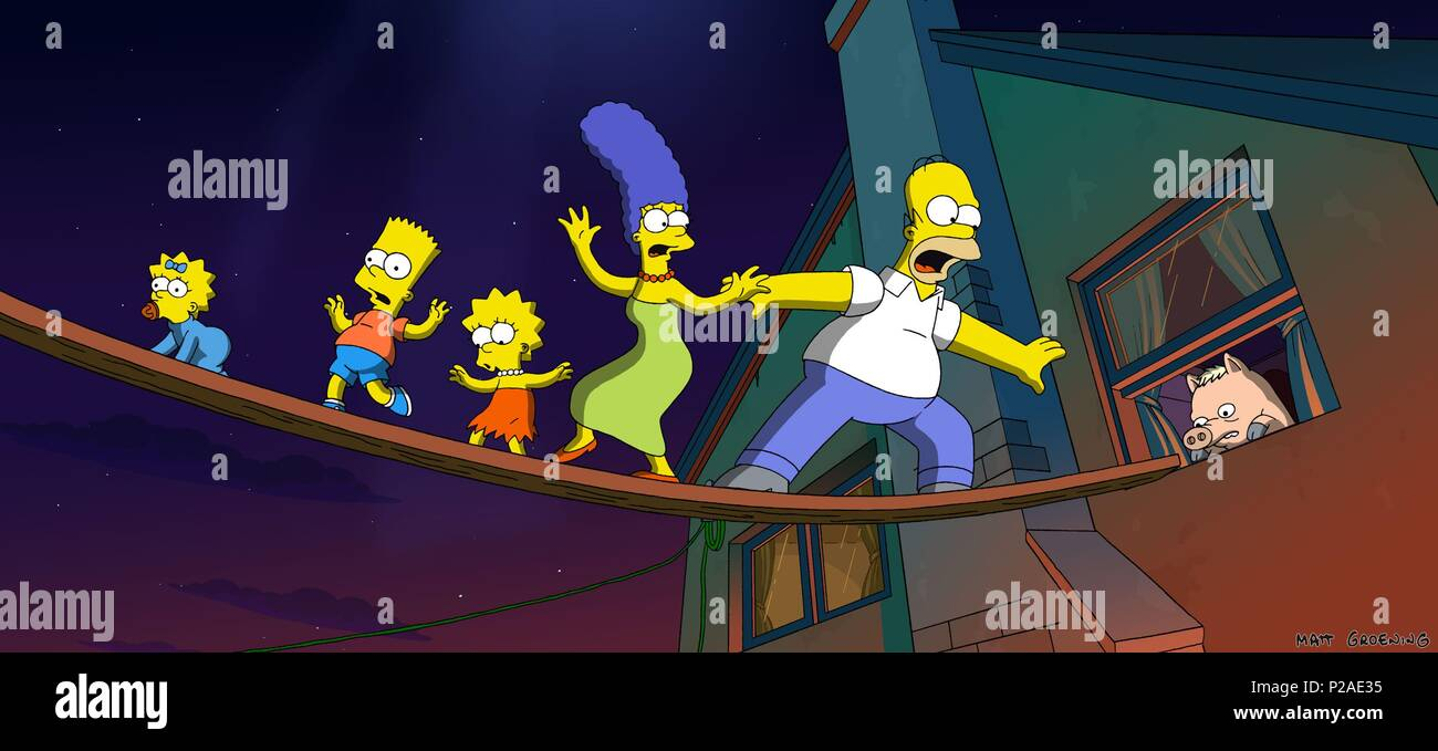 Original Film Title The Simpsons Movie English Title The Simpsons Movie Film Director David Silverman Year 2007 Credit 20th Century Fox Album Stock Photo Alamy