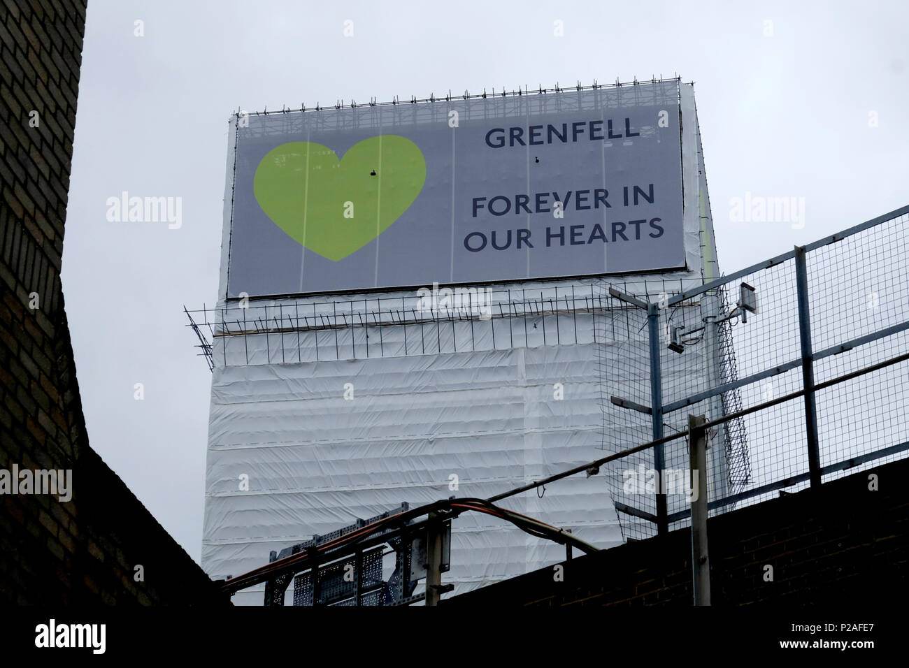 London, UK, 14th June 2018. Many events are held in south Kensington to mark the anniversary of Grenfell tower tragedy. Credit: Yanice Idir / Alamy Live News Stock Photo