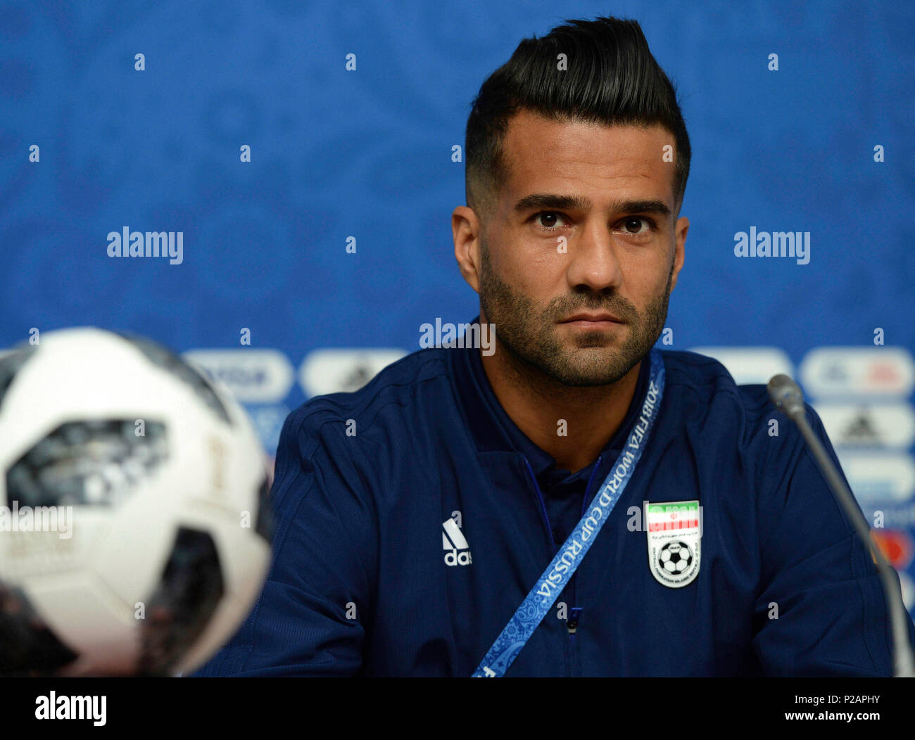 Fifa World Cup Russia Pre Game Conference Of Iran National Team In The Picture Player Of Iran National Team Masoud Shojaei