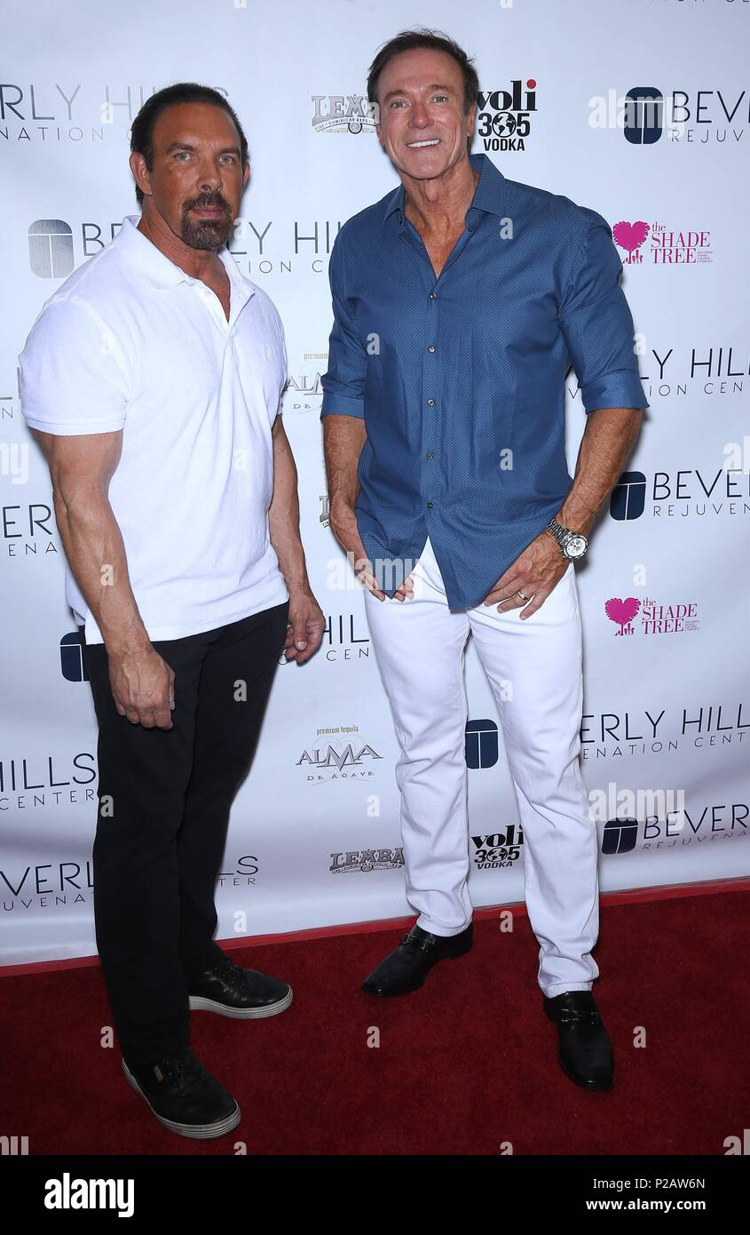 Las Vegas, NV, USA. 14th June, 2018. Dan Holtz, Devin Haman at arrivals for Beverly Hills Rejuvenation Center Grand Opening, Downtown Summerlin, Las Vegas, NV June 14, 2018. Credit: MORA/Everett Collection/Alamy Live News - Stock Image